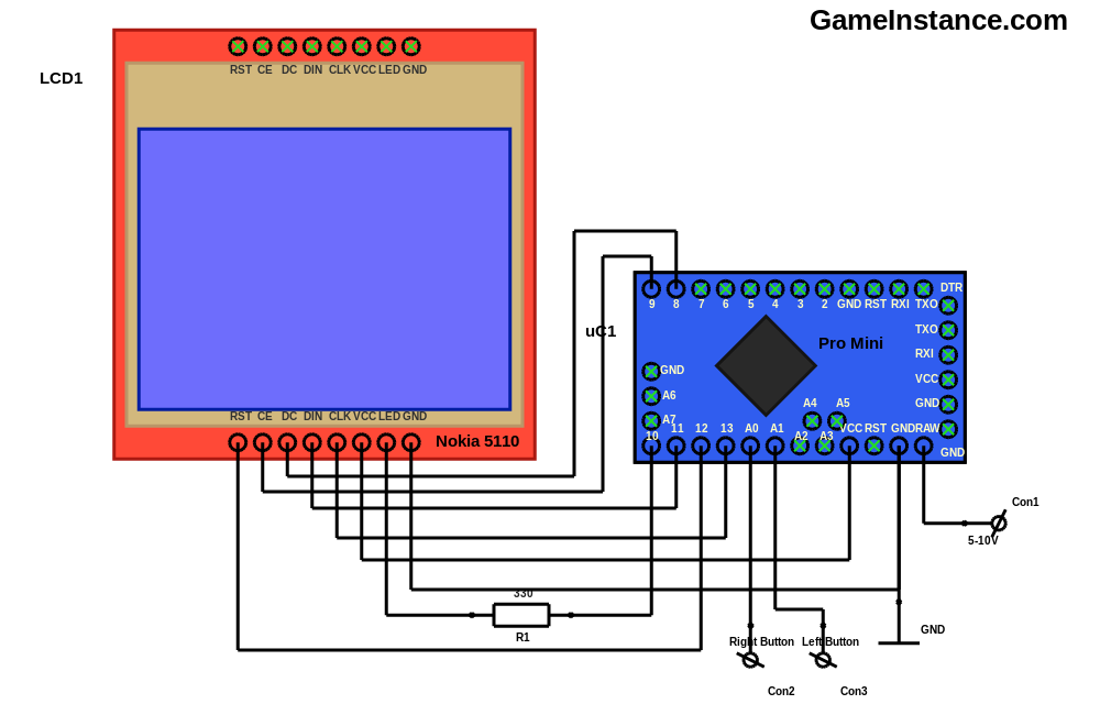 Gameinstance the snake game for arduino a nokia