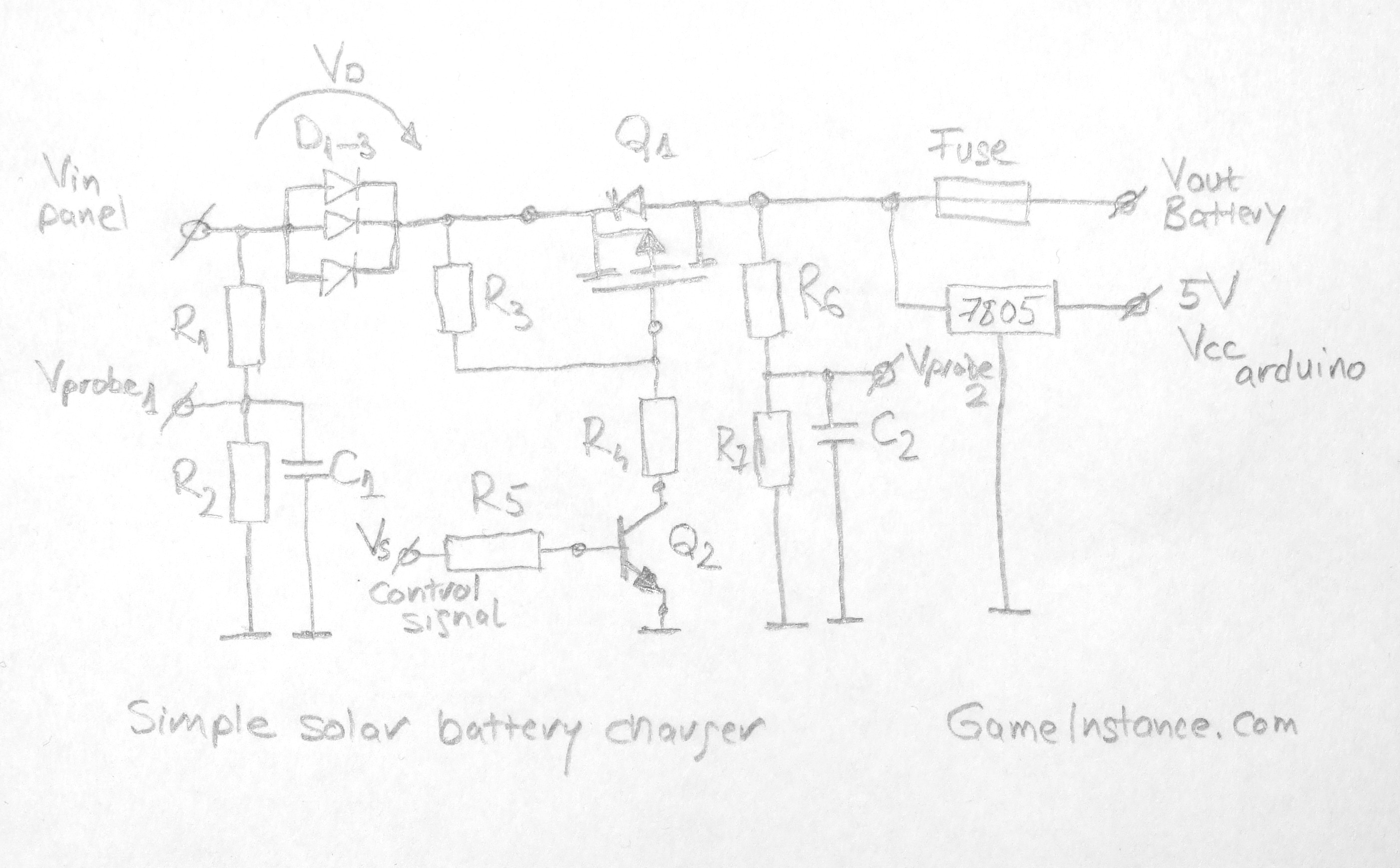 gameinstance com - simple solar battery charger